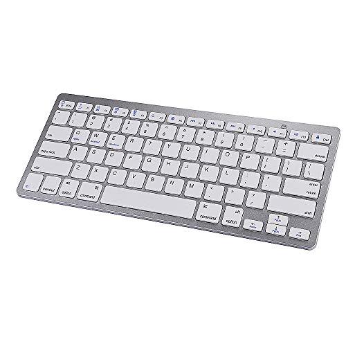 NCBH Ultra-Thin Draadloos Mini Toetsenbord, Tablet Bluetooth Toetsenbord, Universeel Bluetooth Draadloos Toetsenbord voor Home PC Gamers & Office Typists Gebruik