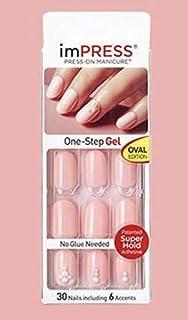 KISS imPRESS Oval Nails 71506 NEXT WAVE by Broadway Press-On Manicure Nails
