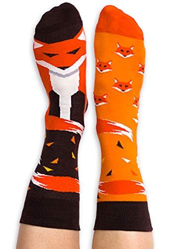 Nanushki unisex lustige verrückte Motiv Socken FireFox Fuchs (40-43 EU, FireFox)