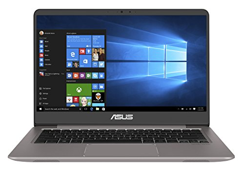 ASUS Computer ZenBook UX3410UA 90NB0DL1-M04440 Ultrabook (35,6 cm 14 Zoll FHD Matt, Intel Core i5-7200U, 8GB RAM, 256GB SSD, 1TB HDD, Intel HD Graphics, Win 10) grau