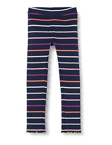 s.Oliver Junior Mädchen Leggings, Blue Petrol Stripe (Blue Petrol Stripe 57g1), 92/REG