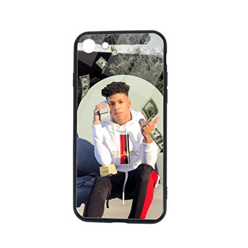 Nle-Choppa Phone Case for iPhone 7/8 Case,iPhone 7 Case,TPU Tempered Glass Phone Case for iPhone 8 Case