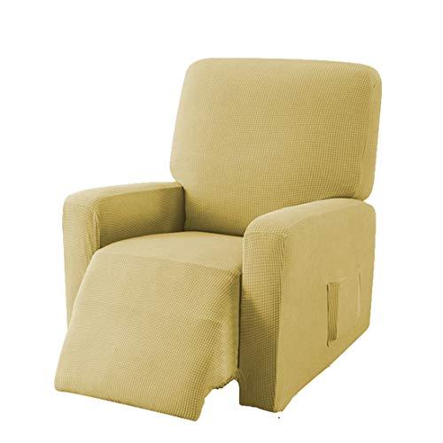 E EBETA Jacquard Sesselbezug, Sesselschoner, Stretchhusse für Relaxsessel Komplett, Elastisch Bezug für Fernsehsessel Liege Sessel (Gelb)