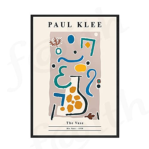 Moderno lienzo de geometría abstracta pintura Paul Klee Bauhaus exposición carteles de arte de pared e impresiones para la decoración del hogar de la sala de estar B 50x75cm
