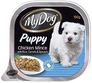 MY DOG Puppy Mince Chicken Rice Carrot Spinach 12X100G (251074) (DMD100PCRX12)