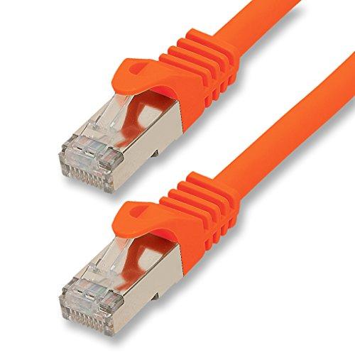 1aTTack.de netwerkkabel ethernetkabel lange kabel Cat.7 S-FTP PIMF compatibel met Cat.5 / Cat.6 | 10Gb/s | voor switch, router, modem, patchpannel, Access Point, patchvelden 2,0m oranje - 1 stuk