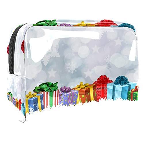 Bolsa de maquillaje de regalo de Navidad Bolsa de cosméticos de PVC para mujeres Bolsa de maquillaje impermeable con cremallera Bolsa de aseo portátil de viaje