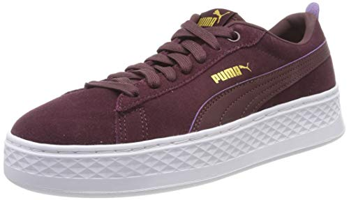 Puma Damen Smash Platform SD Sneaker, (Vineyard Wine Team Gold White 11), 40 EU