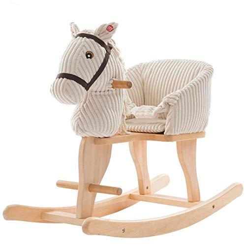 YUEZPKF Schön Schaukelstuhl Kinder Rocking Horse Trojan 2 in 1 Massivholz Musik Baby Baby Schaukelstuhl Geschenk 14 Jahre alt Rocking