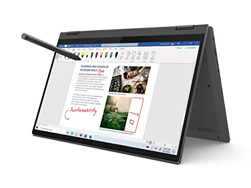 Lenovo Flex 5 14' 2-in-1 Laptop, 14.0' FHD (1920 x 1080) Touch Display, AMD Ryzen 5 4500U Processor, 16GB DDR4, 256GB SSD, AMD Radeon Graphics, Digital Pen Included, Win 10, 81X20005US, Graphite Grey