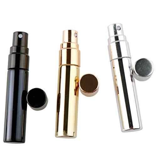 Minkissy Bouteilles de Parfum en Verre Portable Mini Parfum Rechargeable Flacon Pulvérisateur Vide pour Homme Et Femme Voyageant Et Sortant 6Pcs