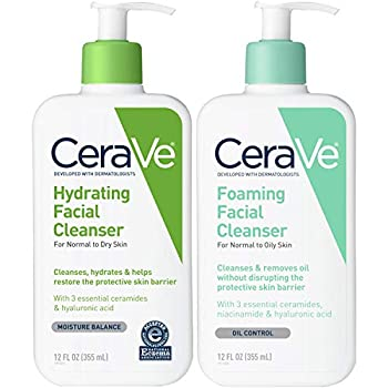 CeraVe Foaming Facial and Hydrating Cleanser 24 Fluid Ounce