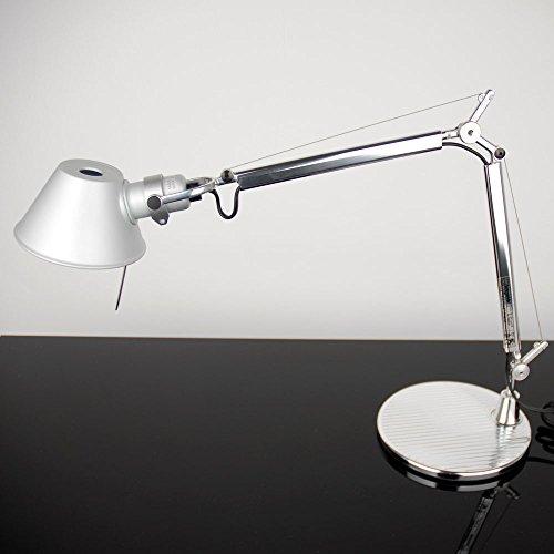 Artemide Tolomeo Micro Tischleuchte mit Fuss Aluminium Tischlampe Bürolampe