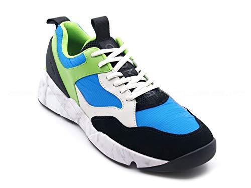 Cromier sneakers voor heren met maxi-zool, wit en flexibel hoog.
