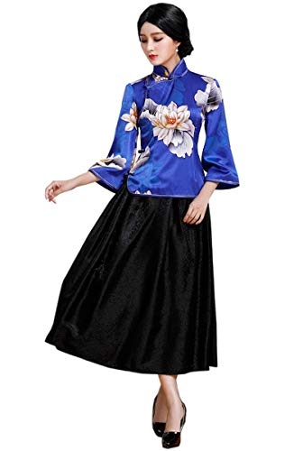 HangErFeng Qipao Cheongsam Fitting Blouse en Rok Pak met Chinese Element Printing