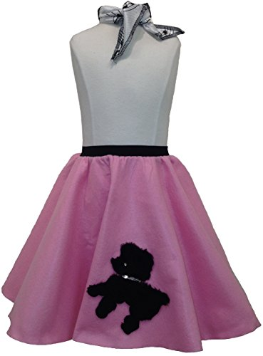 Toddler Poodle Skirt with Scarf (Light Pink)