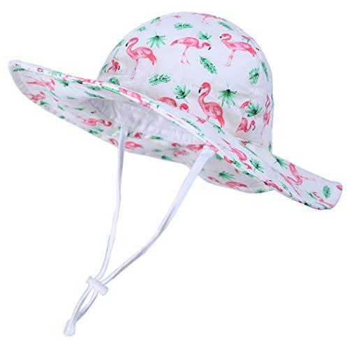 Happy Cherry Chapeau de Soleil B/éb/é avec Visiere Protection Anti-uv avec Cordelette Bob Lavable Plage Vacances Contre Soleil 0-8ans Cadeau Anniversaire Bapt/ême