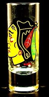 NHL Licensed 2.5 Oz. Shooter Hype Cordial Style Shot Glass (Chicago Blackhawks)
