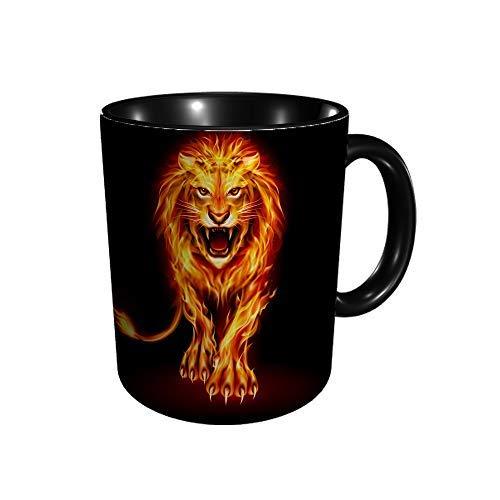 Hdadwy Feuerlöwe Keramikbecher Kaffee Tee Geschenk Geschenk Weihnachten Weihnachten 11oz