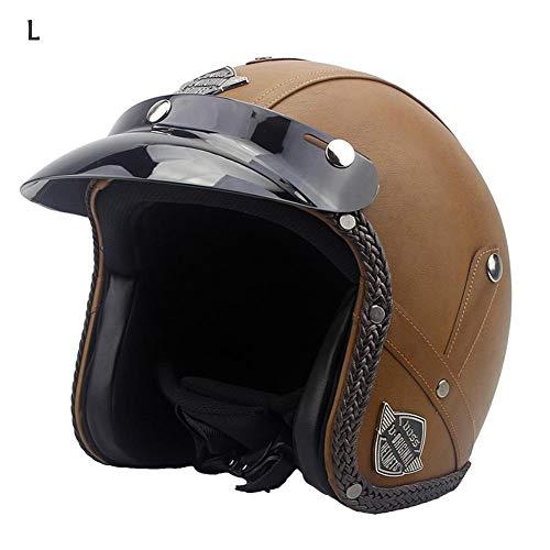 gaeruite Cuero de la PU del Casco de la Motocicleta de la