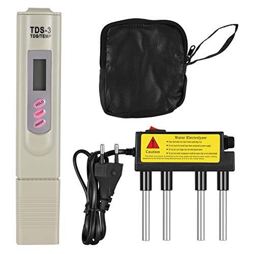 Topker TDS Agua Electrolyzer Test Pluma de electrólisis Digital TDS Filtro de medidor Calidad del Agua Nivel de pureza Tester Enchufe de la UE
