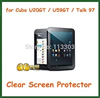5pcs Ultra Clear Screen Protector Protective Film for Cube U20GT Cube Talk97 U59GT Talk 97 NO Retail Package Size