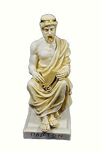 Plato-Statue, antiker griechischer Philosoph, gealterte Skulptur
