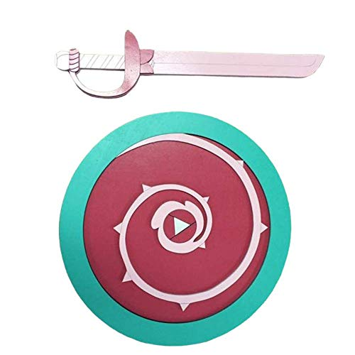 Steven Universe Kids Sized Fan Inspired Handmade Wooden Shield and Sword for Cosplay (Pretend Play) or Wall Decoration