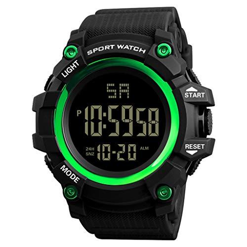 UINGKID Collection Unisex-Armbanduhr Herren Uhren Ultra Dünne wasserdichte Uhr der Luxusmann-analogen Digital-im Freienuhr-Militärsport-LED