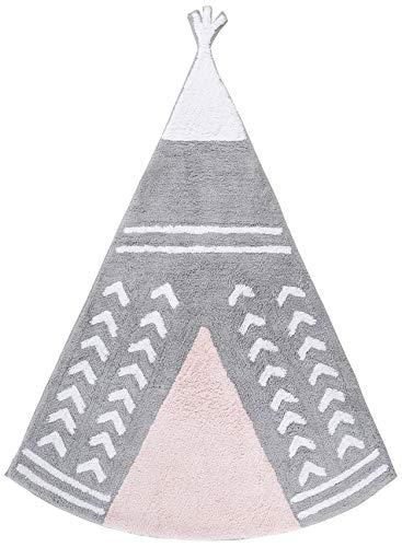 Ideenreich 2401teppich100% algodón lavable, 120x 160cm, color rosa