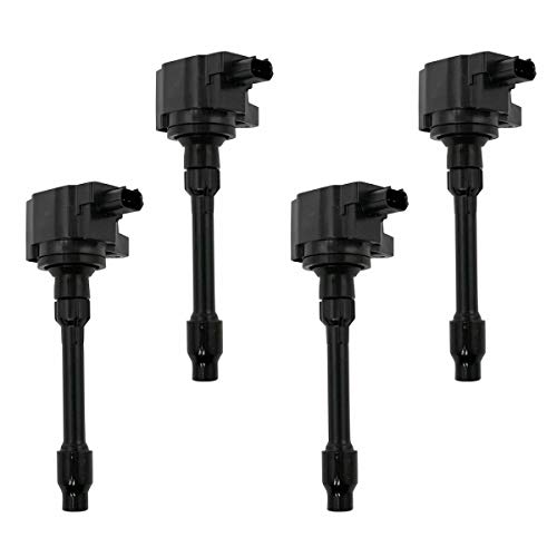 4 Piece Engine Ignition Coil Set Direct Fit Compatible with Honda Accord Civic CR-V
