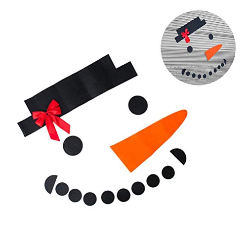 Kylewo Kerstmis decoratieve sticker sneeuwpop sticker DIY Kerstmis sneeuwman decoratie garage deur