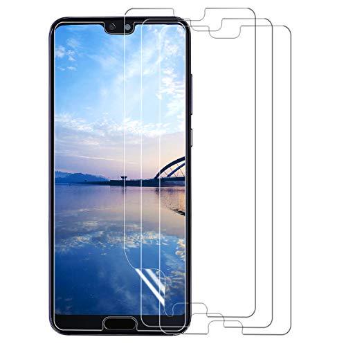 Schutzfolie für Huawei P20,(3Stück) Ultra Clear Displayschutzfolie (Nicht Glas) Soft Displayschutz [Anti-Bläschen][Anti-Fingerabdruck] Displayfolie Folie Screen Protector für Huawei P20