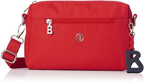 Bogner Damen Verbier Pukie Shoulderbag Shz Schultertasche, Rot (Red), 4x15x22 cm
