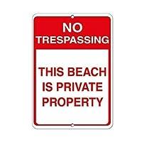 このビーチへの立ち入り禁止は私有財産ですアルミニウム金属看板ティンサイン