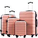 Coolife Luggage 3 Piece Set Suitcase Spinner Hardshell Lightweight TSA...