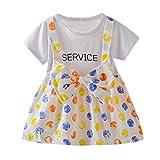 Vestido para bebé de 0 a 24 meses, diseño de lunares, con nudo, tutú, vestido de princesa para niña, vestido de noche, para bebé, ceremonia, fiesta, cumpleaños, bautizo, carnaval #1 Blanc 12-18 Meses