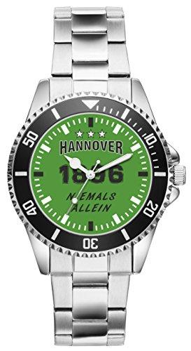 Hannover Geschenk Artikel Idee Fan Uhr 6046