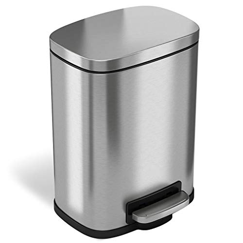 iTouchless Soft Step Trash Can Trash Can, pedaal Kitchen Trash Can, perfect voor kantoor, thuis en keuken