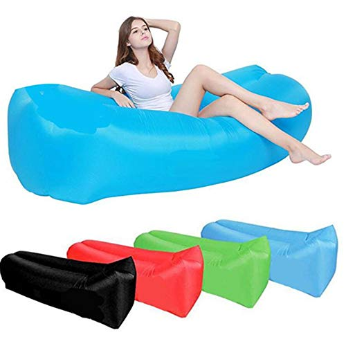 ZTOONE Inflatable Lounger Couch Air Lounger Lazy Sofa with Carry Bag,Hammock Inflatable Mattress Inflatable Bed Pool Float for Swim,Camping,Beach,Hiking,Park,Backyard, Pool, Picnics(Green)