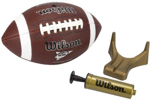 Wilson NCAA Supreme Junior Football with Pump amp Tee