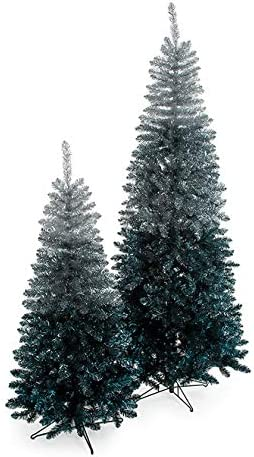Silver 5 popular to Blue Tinsel Ombre Free shipping on posting reviews Trees 7.5 or Foot Tall No