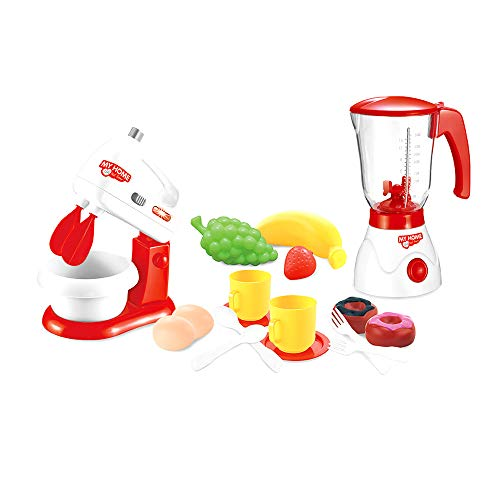 Innovative Toys Pretend Kitchen Appliances Toy Set for Kids. Mixer and Juice Blender with Food Accessories Playset.