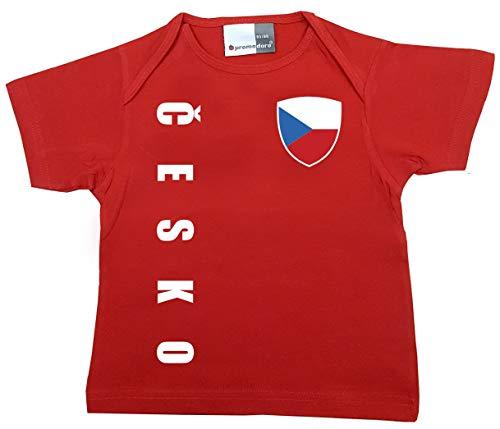 aprom Tchèque T-shirt pour bébé – Maillot – WM EM No.1 R CZ - Rouge - 80/86 cm