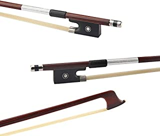 Full Size 4/4 Violin Fiddle Bow Well Balanced Round Brazil Wood Stick Horsehair