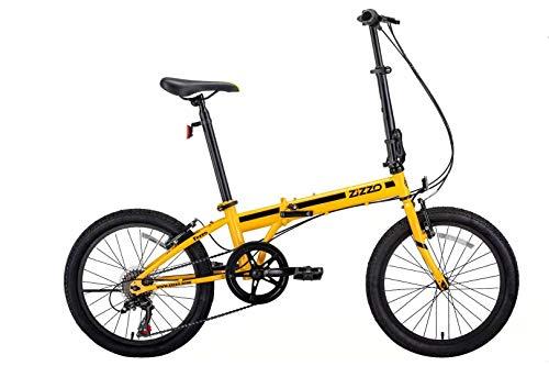 "ZiZZO EuroMini Ferro 20"" 29 lbs Light Weight Folding Bike (Yellow)"