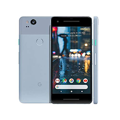 Google Pixel 2 GSM/CDMA Unlocked (Kinda Blue, 64GB) (Renewed)