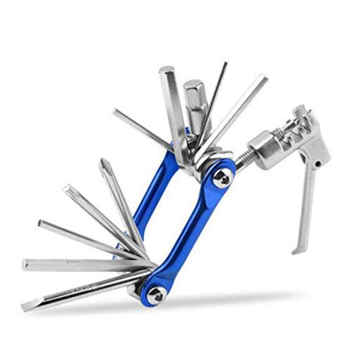 Luopei Juego de herramientas de reparación de llaves de mano, herramienta de reparación, juego de herramientas de disyuntor de cadena, duradero, universal, portátil, rojo, 11 en 1, llave hexagonal