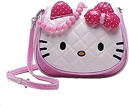 Sanjis Enterprises Girl's Cartoon Character Kitty Crossbody Shoulder Hand Purse Wallet (Multicolour)