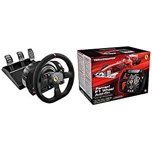 immagine di Thrustmaster T300 Integral Rw Volante, Alcantara Edition - PC/PS4/PS3 + THRUSTMASTER Volante Ferrari F1 Wheel ADD-ON PC/PS3/PS4/Xbox One